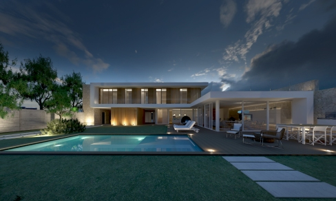 COURTYARD HOUSE   http://www.archilovers.com/projects/160015/private-villa-porto-torres.html