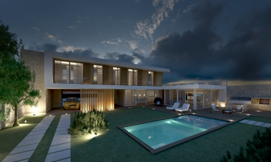 COURTYARD HOUSE | http://www.archilovers.com/projects/160015/private-villa-porto-torres.html