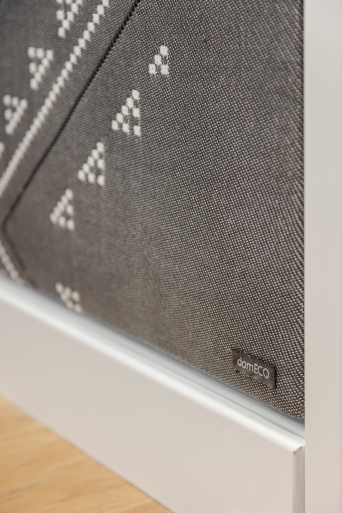 SOUND PROOF TEXTILE PANELS BY DOMECO + MARIANTONIA URRU | http://www.archilovers.com/projects/206272/dental-studio.html