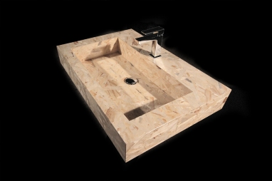 unOs | unique OSB sink | http://www.archilovers.com/projects/137351/bagno-low-cost-in-osb.html