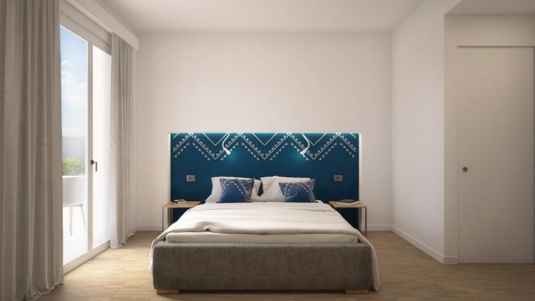 BEDROOM | BLUE VERSION | DOMU' | https://www.houzz.it/projects/5648143/domu-220-mq