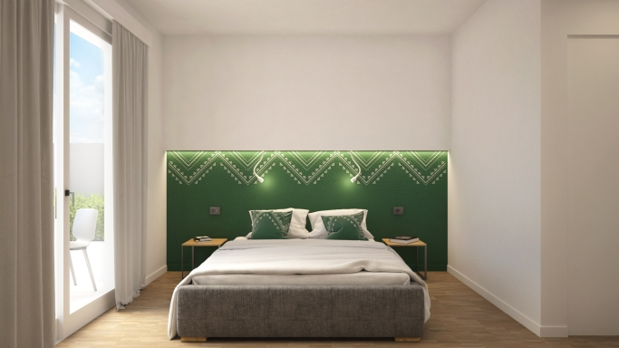 BEDROOM | GREEN VERSION | DOMU' | https://www.houzz.it/projects/5648143/domu-220-mq