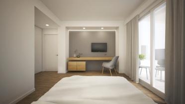 BEDROOM | TV NICHE | DOMU' | https://www.houzz.it/projects/5648143/domu-220-mq